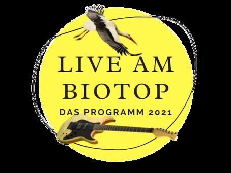 """Open Air-Konzertreihe """"Live am Biotop"""" startet endlich am 18. Juni"""