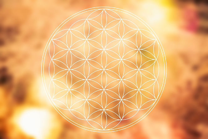flower of life on the golden background