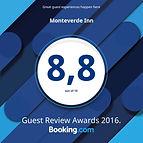 Monteverde Inn Award from Booking.com