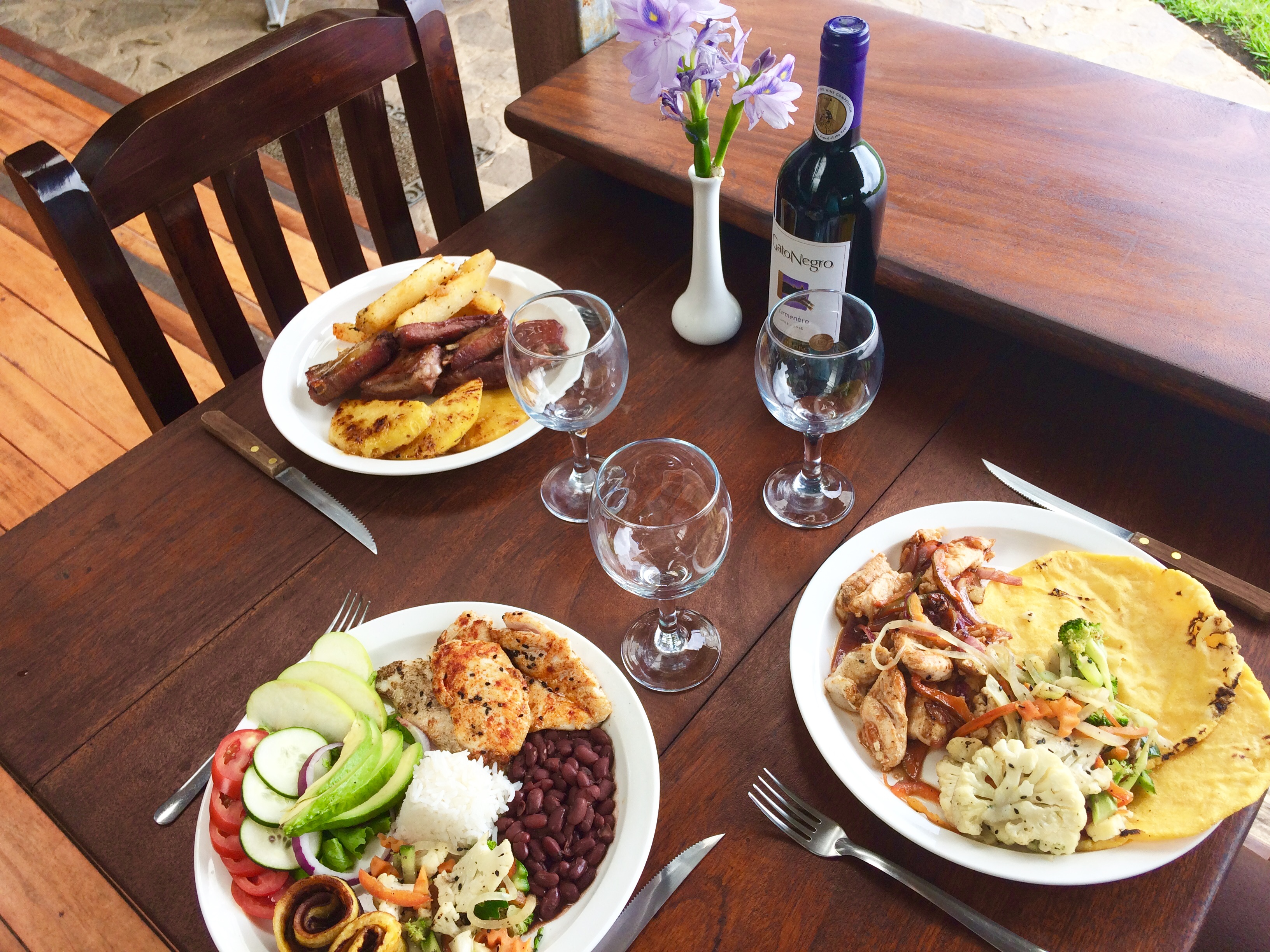 Typical Costa Rican Casado & Meals