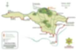 Map of Monteverde Nature Reserve Valle Escondido