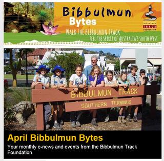 Front page in Bibbulmun Bytes Newsletter