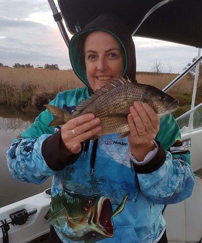 Donna Smith got this nice Bream in the Werribee Estuary