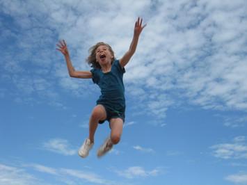 Girl Jumping...