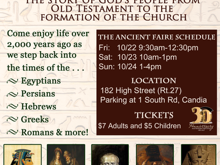 """JRHS Presents """"The Ancient World Faire"""" 