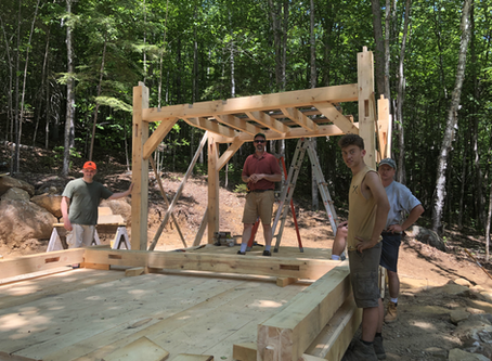 JRHS Timber Frame #47 standing tall and proud