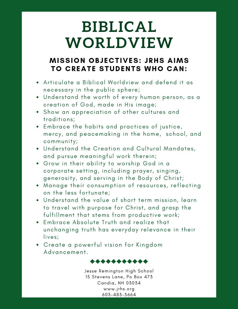 Biblical Worldview (1)