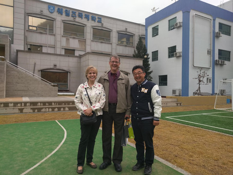 JRHS Board Member visits Student Parents and KWICS in South Korea