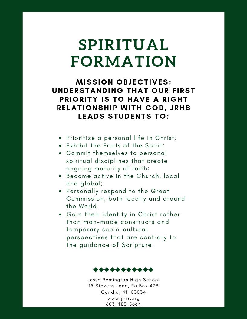 Spiritual Formation (1)