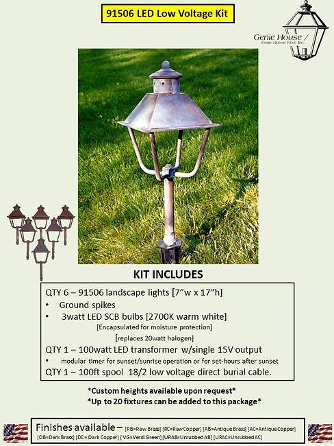 91506 LED Low Voltage Landscape Lighting Kit