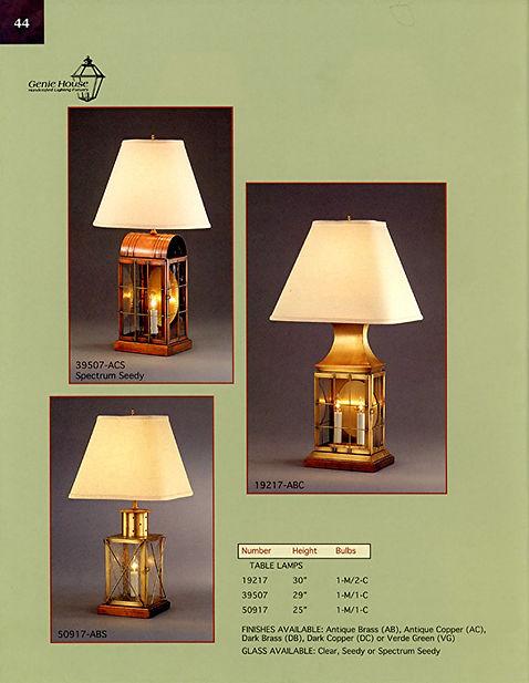 19217, 39507, 50917 Table Lamp, Table Lantern