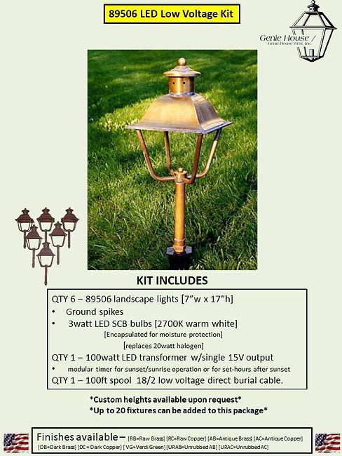 89506 LED Low Voltage Landscape Lighting Kit