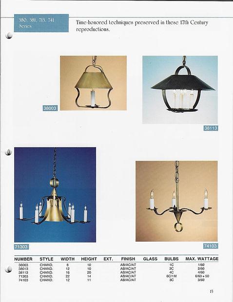 380, 381, 913, 741 Series Lanterns as Pendant Lights