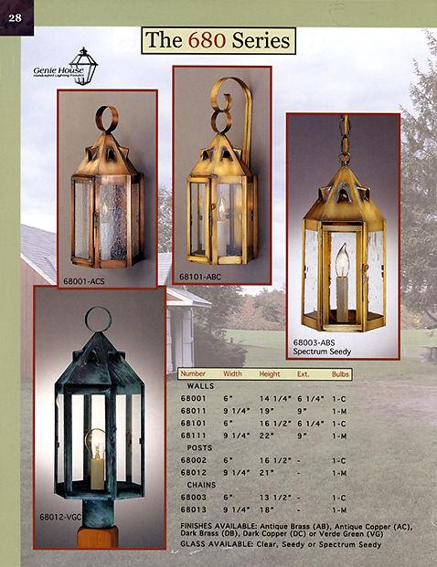 680 Series Wall Lantern, Post Lantern, Chain Lanterm