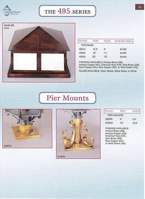 495 Series Pier Mounts Pier Base