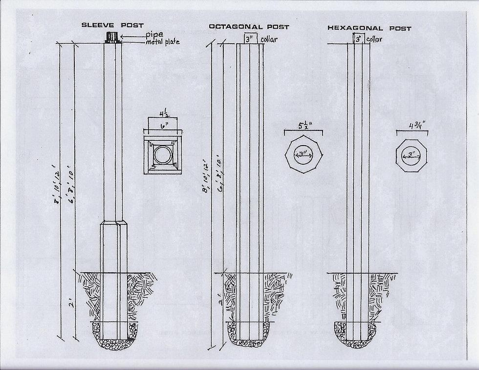 Sleeve Post, Octagonal Post, Hexagonal Post