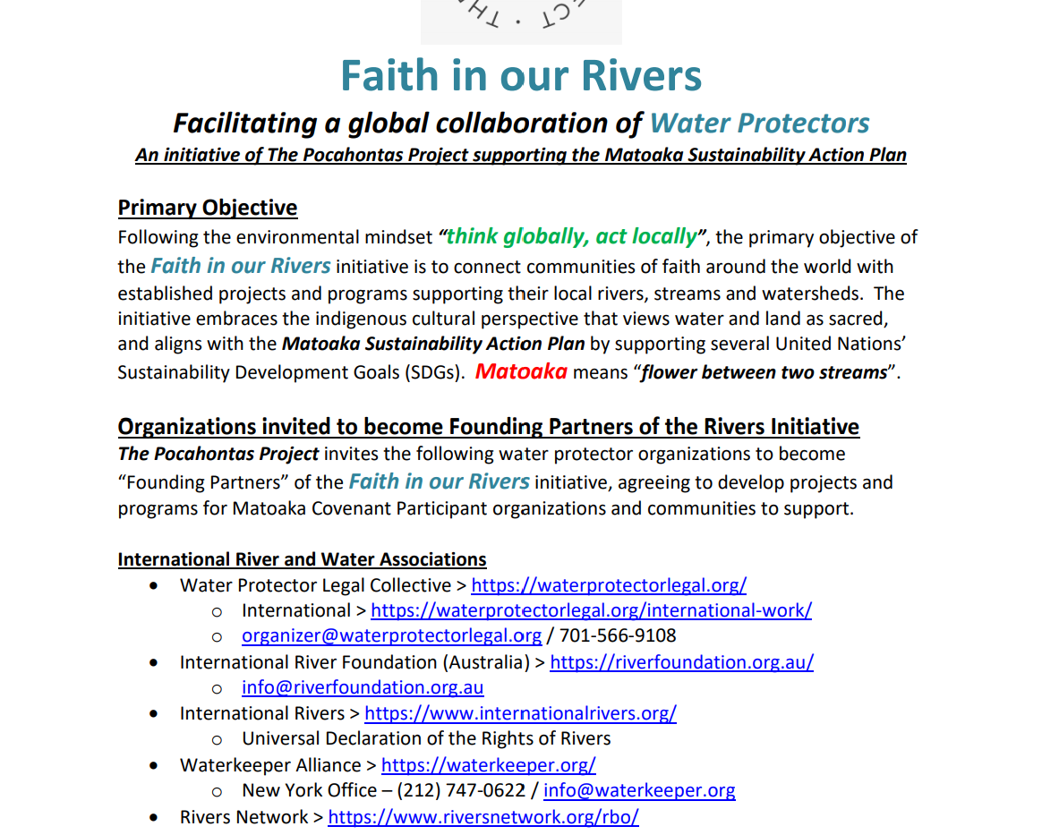 Faith in Our Rivers