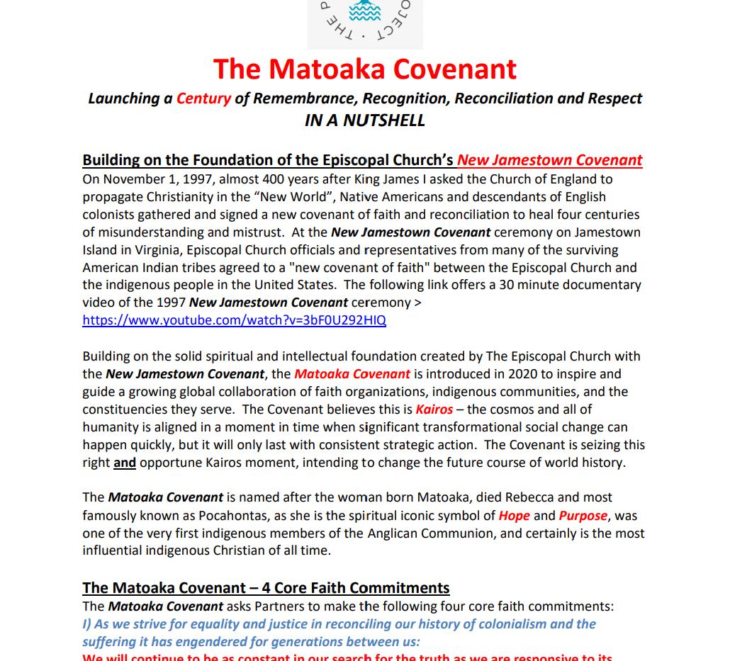 The Matoaka Covenant