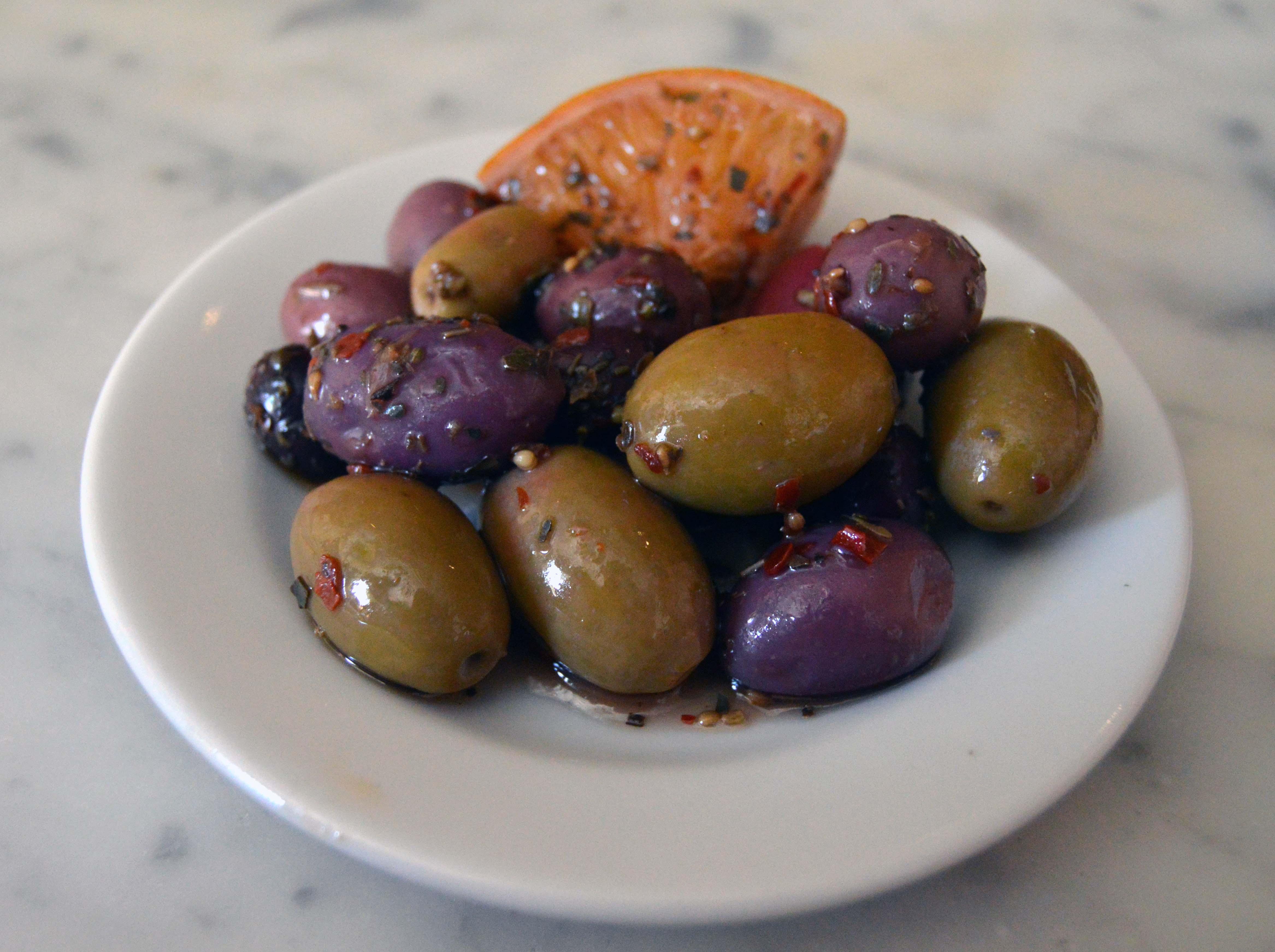 Olive Miste, marinated olives