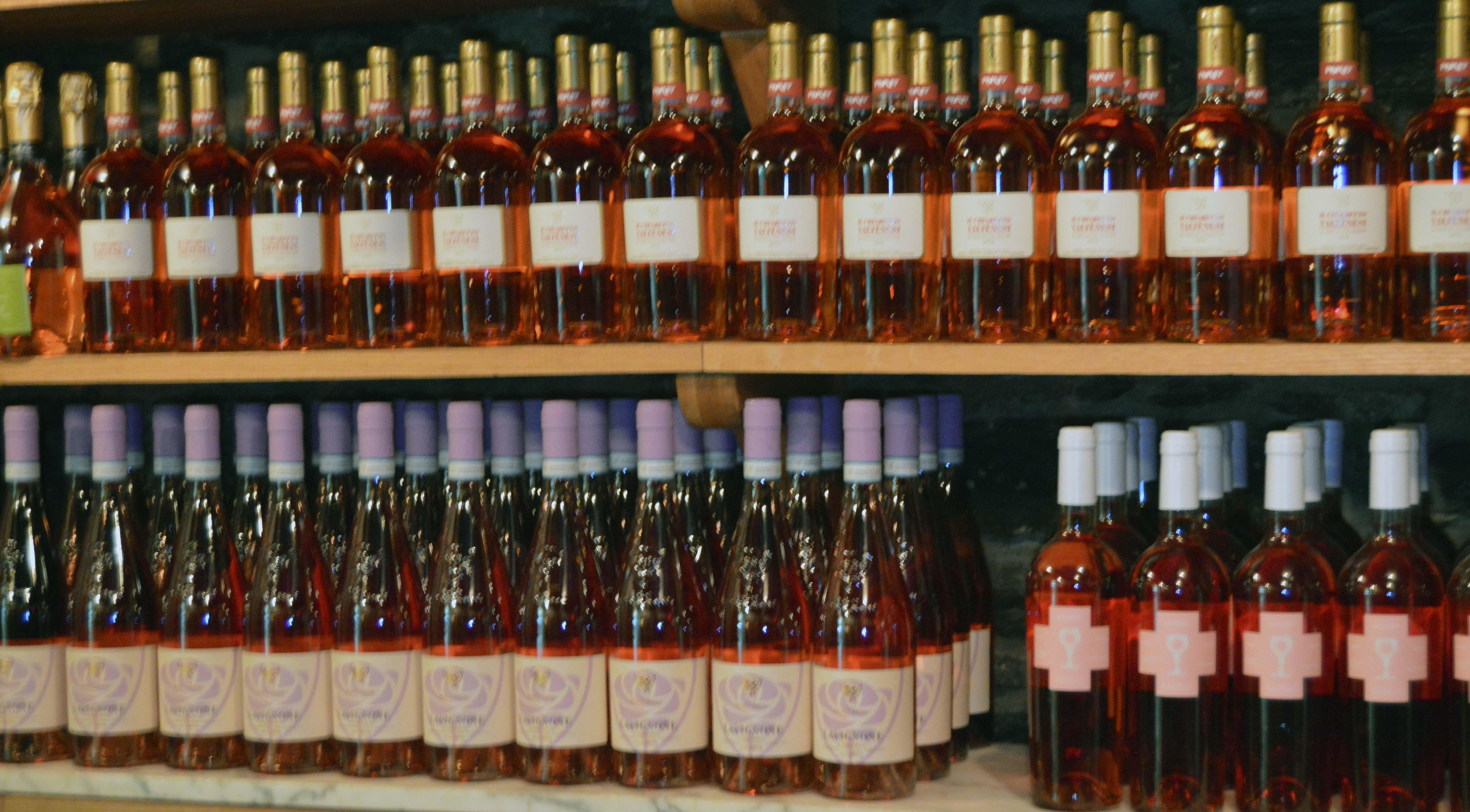 Bottles of Rose