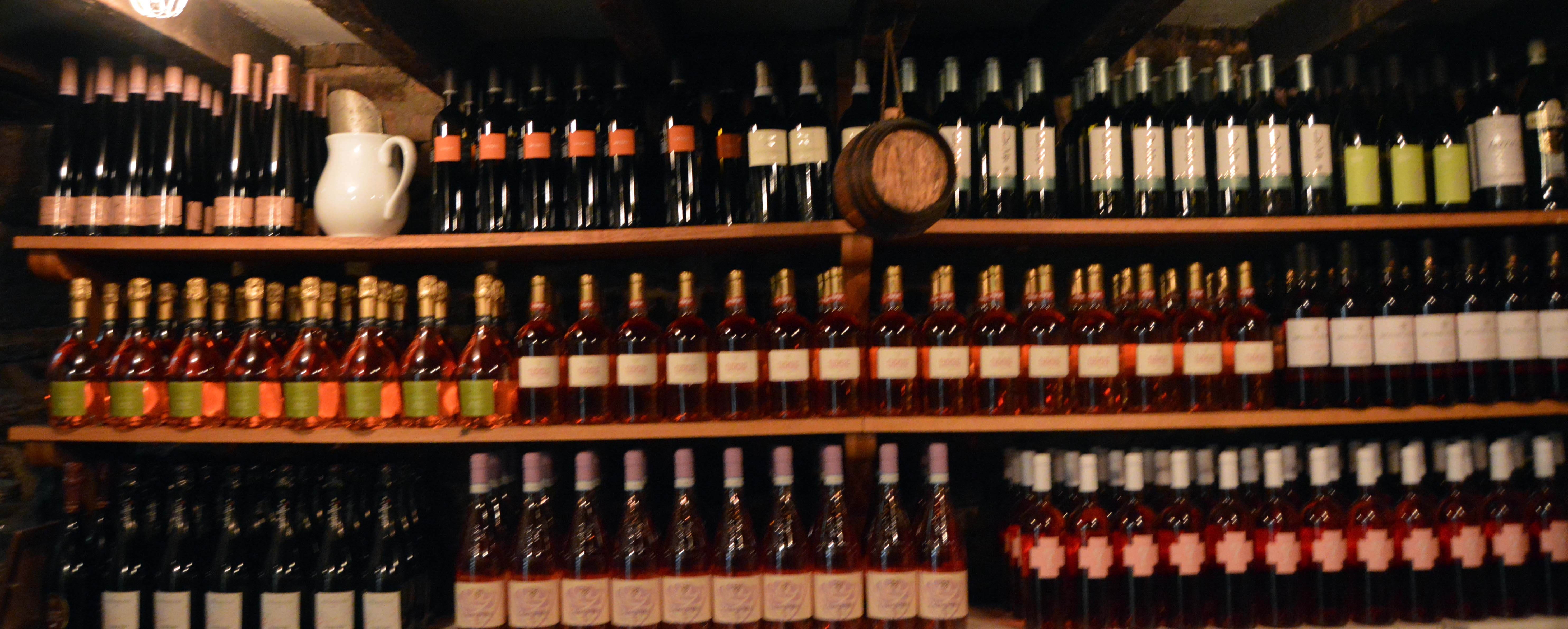 Our extensive wine cellar at Gottino