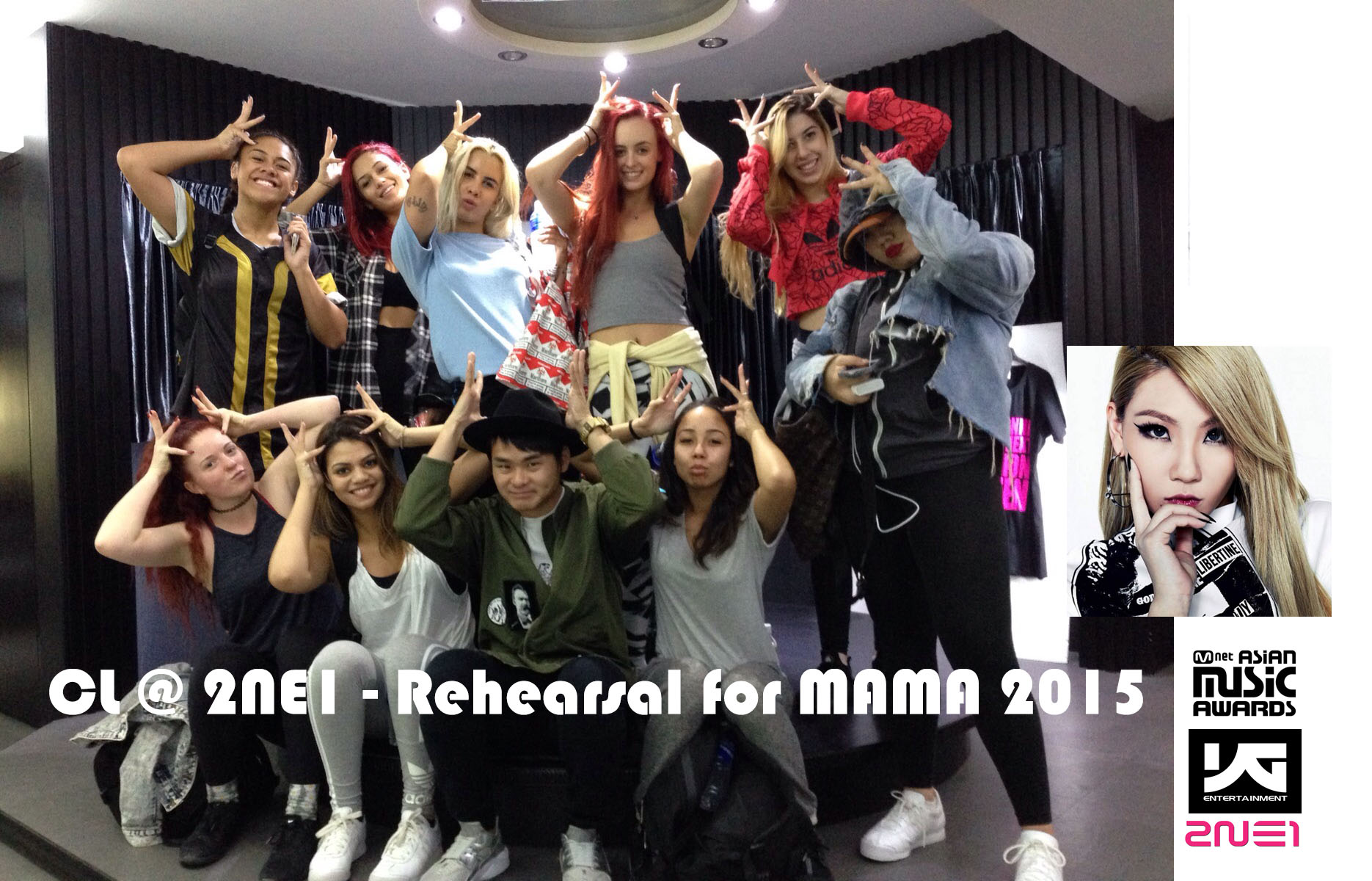 ECL _ 2NE1 - Rehearsal for MAMA 2015