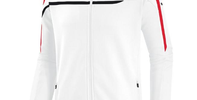 JAKO Unisex Veste à capuchon Performance blanc-noir-rouge