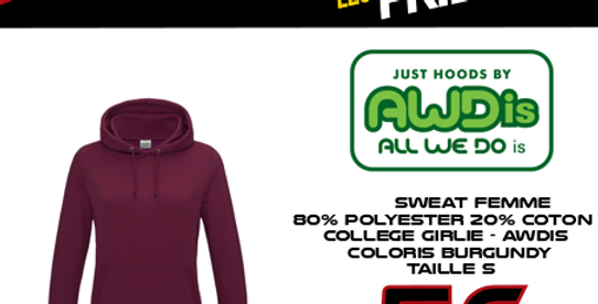BF: Sweat COLLEGE GIRLIE AWDIS Femme