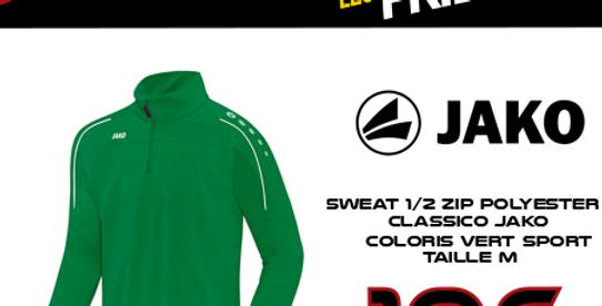 BF: Sweat 1/2 zip CLASSICO JAKO