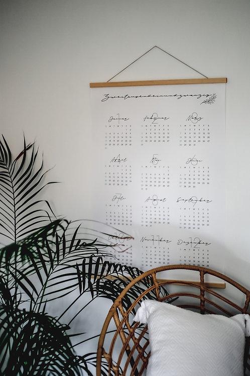 """Kalender mit Holzaufhängung A1 """"2021"""""""