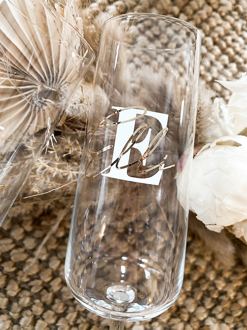 Sektglas personalisiert