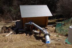 流量80ℓ/sを流す圧力管はΦ300の鋼管
