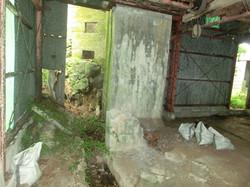 工事前の小屋内部
