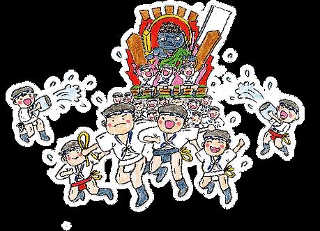 博多三氣瑞穂店の博多山笠イメージ