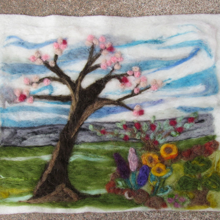 Needle Felted Landscape - May 18
