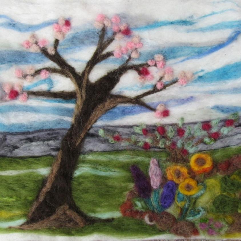 Needle Felted Landscape - June 23   SOLD OUT!!
