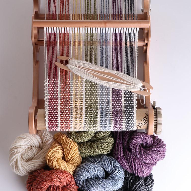 Beginner weaving on a Rigid Heddle Loom