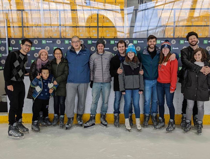 The lab goes ice skating!