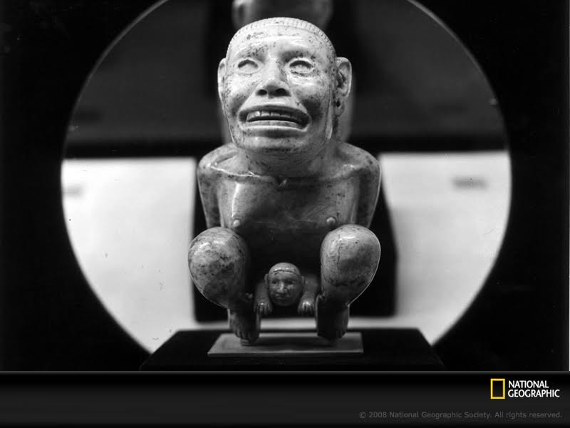 """Dr. Jones, again we see there is nothing you can possess which I cannot take away. The Golden Idol figure featured in Raiders of the Lost Ark was inspired by this Aztec-style piece located at Dumbarton Oaks Museum Pre-Columbian Collection. Although originally the figurine was considered by several scholars to be a pre-Columbian artwork, others believe it was made in modern times, possibly in the 19th century. The Figurine also gave inspiration for My Birth, 1932 by Frida Kahlo."