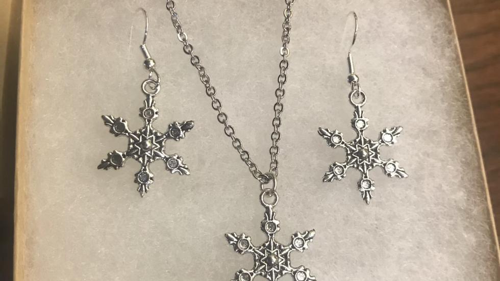 SnowNecklace & Earring Set