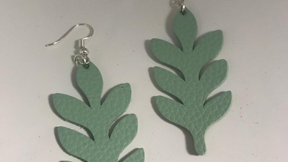Sage Leather Leaves