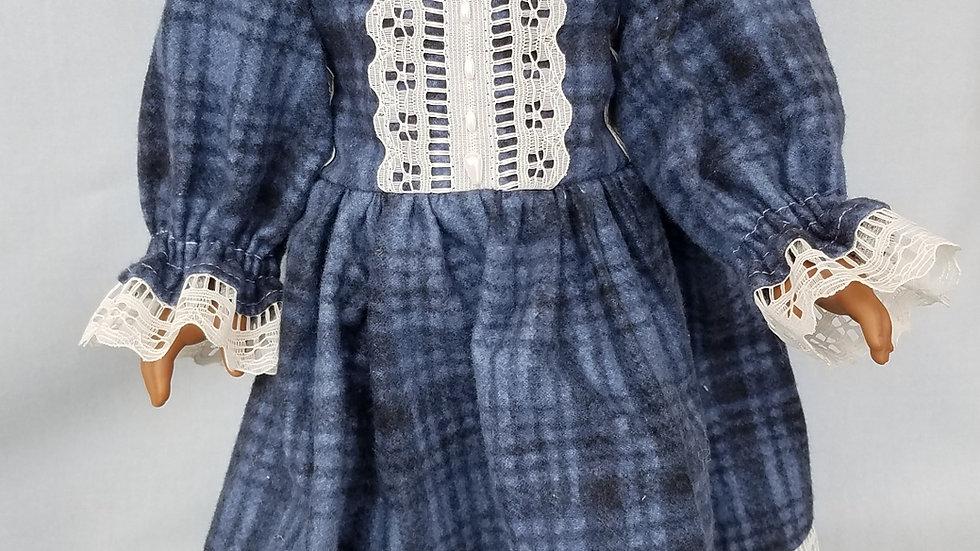 """18"""" Doll Plaid Formal Dress"""