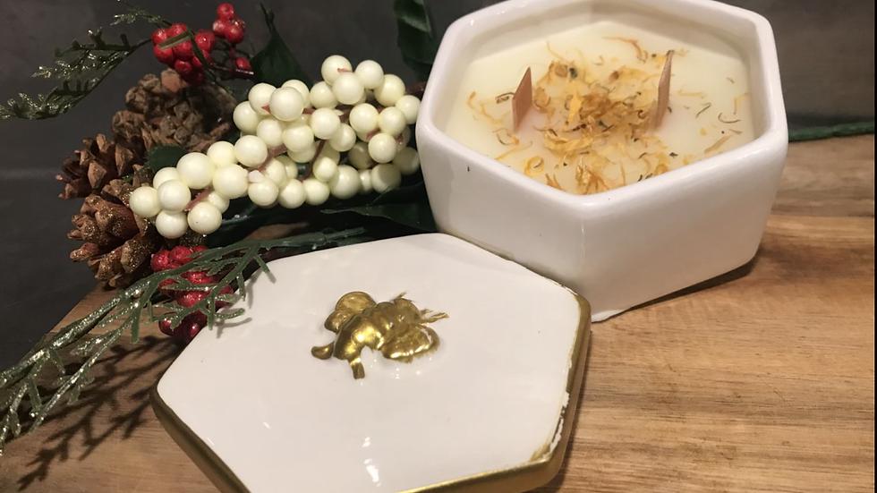 Honey Bee Candle Jar