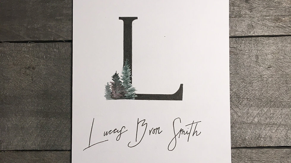 Personalized Name Letters