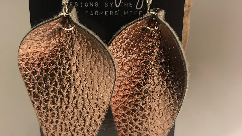 Bronze Leather Petals