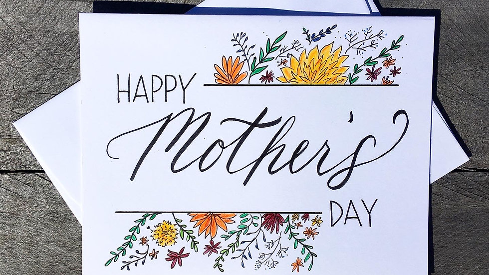 Mothers Day Card in Color