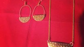 Guitar String Earring & Necklace Set