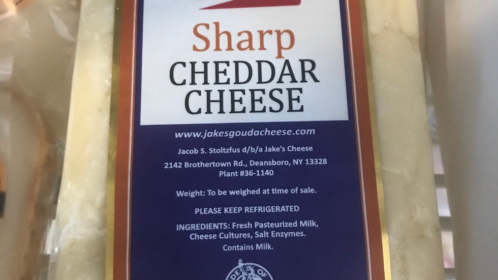 Cheddar Cheese (NY LOCAL)