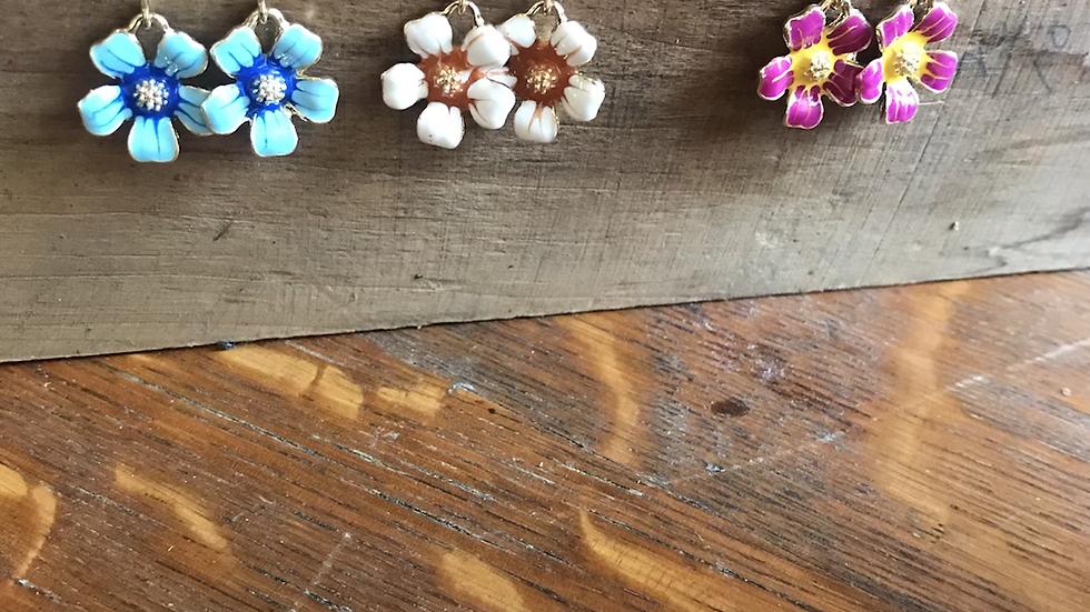 3 Choices- Flower Earrings