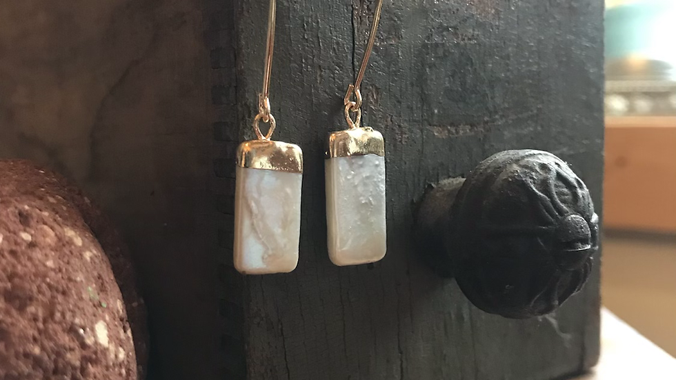 Mother of Pearl Dipped Earrings
